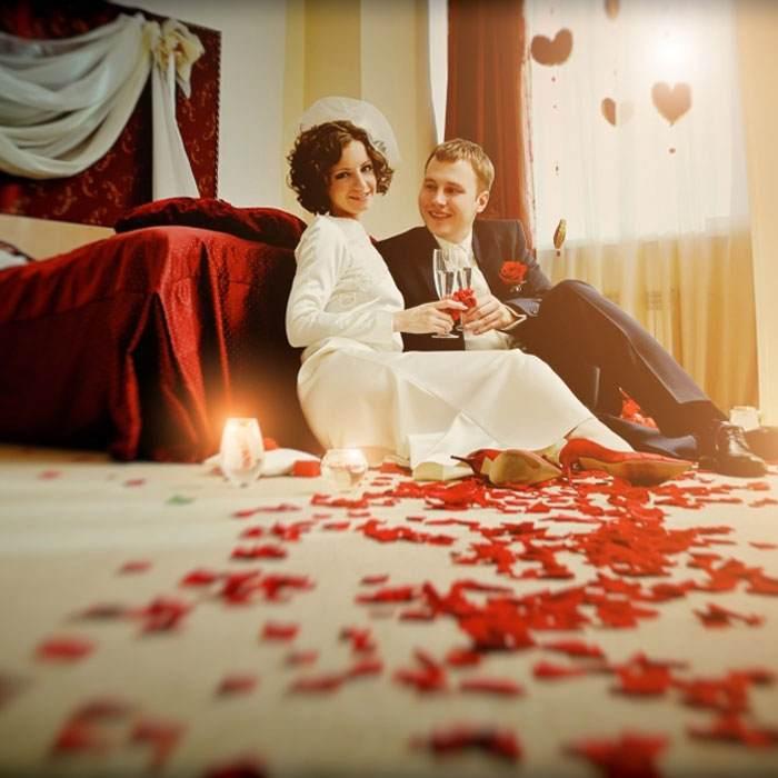 Двойным фото брачного ноча